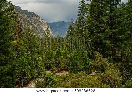 Canyon View Viewpoint In Kings Canyon National Park In California, United States