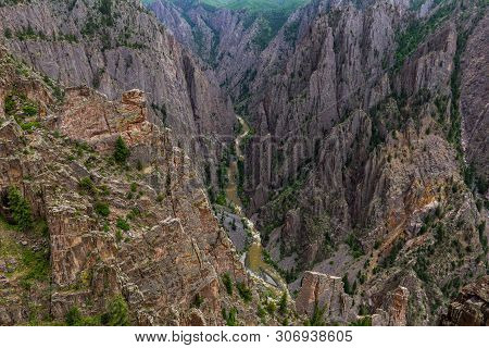 Kneeling Camel Overlook, Black Canyon Of The Gunnison National Park, Colorado, United States