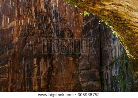 Weeping Rock In Zion National Park In Utah, United States