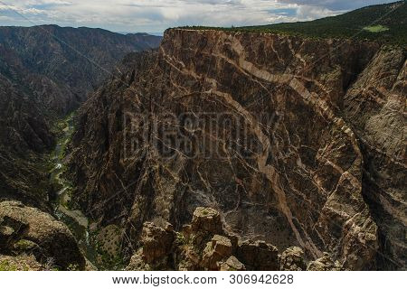 Cedar Point In Black Canyon Of The Gunnison National Park In Colorado, United States