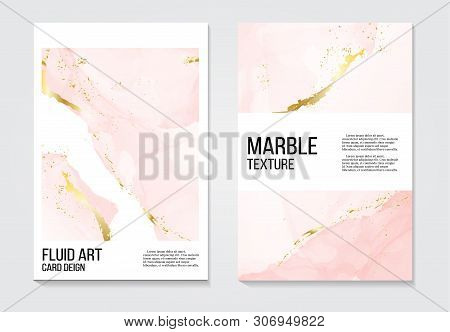 Trendy Modern Liquid Marble Texture Template. Fluid Art. Applicable For Design Cover, Presentation,