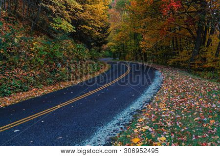 Heintooga Ridge Road In Great Smoky Mountains National Park In North Carolina, United States