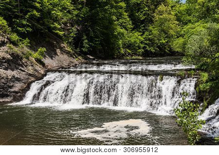 Buttermilk Falls In Rensselaer County, New York, United States