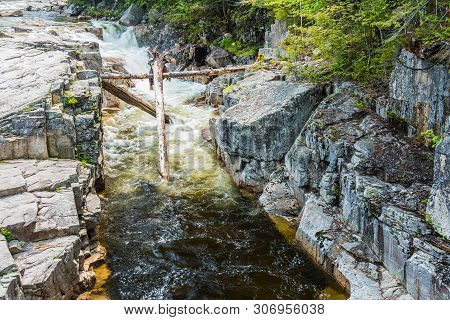 Rocky Gorge In White Mountain National Forest In New Hampshire, United States