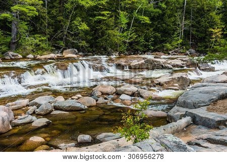 Lower Falls In White Mountain National Forest In New Hampshire, United States