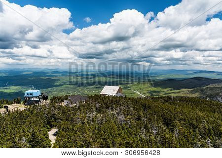 View From Cannon Mountain In Franconia Notch State Park In New Hampshire, United States