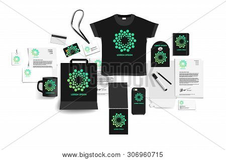 Corporate Identity Of The Company. Stock Vector Mockup Set. Template Design Elements Company. Illust