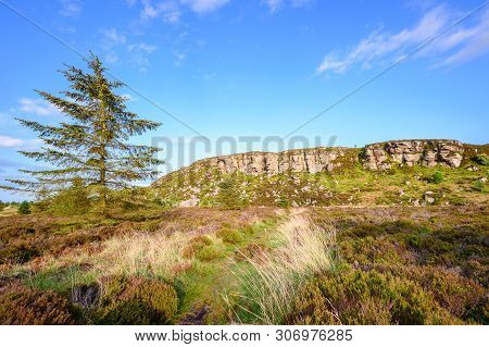 Trail To Great Wanney Crag, On The Edge Of Northumberland National Park, Is A Remote Escarpment Popu