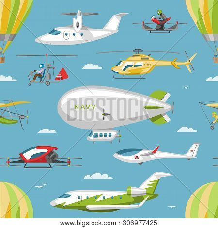 Helicopter Vector Copter Aircraft Or Rotor Plane And Chopper Jet Flight Transportation In Sky Illust