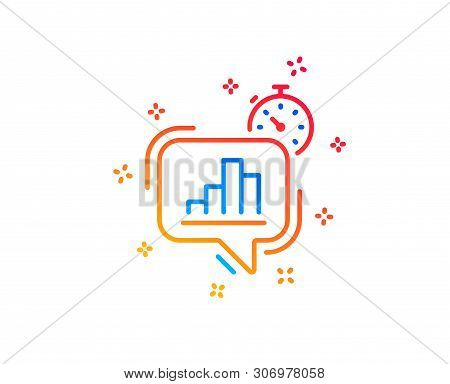Diagram Chart Line Icon. Statistics Timer Sign. Market Analytics Symbol. Gradient Design Elements. L
