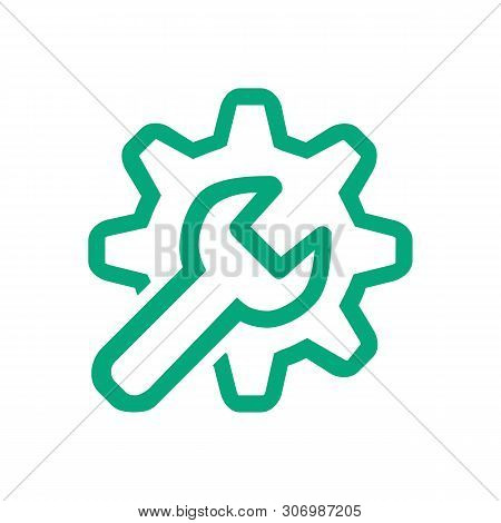 Line Icon Customization Isolated On White Background. Vector Illustration.