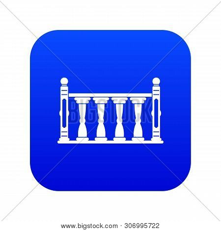 Balustrade Icon Digital Blue For Any Design Isolated On White Vector Illustration