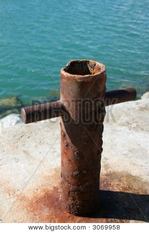 Rusted Boat Anchor Pole