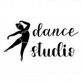Hand Drawn Calligraphy Lettering. Dance Studio Logo