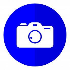 Photo Pamera Flat Icon On White Background, Photo Camera Icon Eps10, Photo Camera Icon Vector, Photo