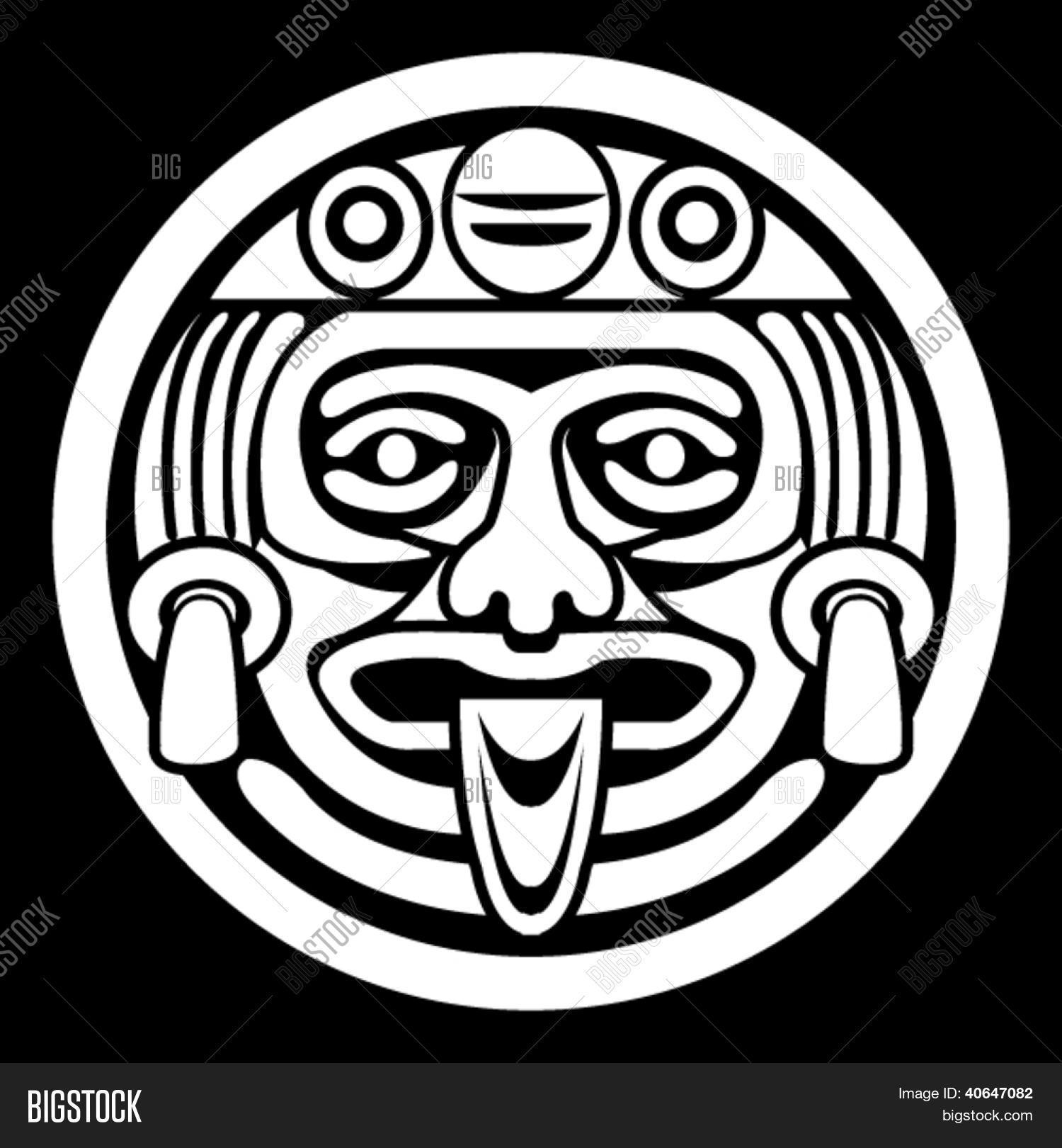 Aztec face mask vector photo bigstock aztec face mask biocorpaavc Images