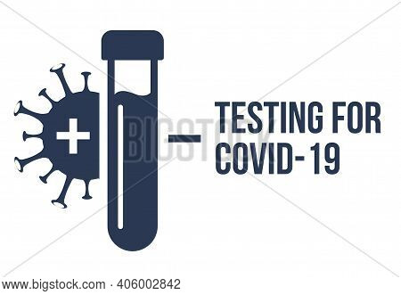 Covid Pcr Test Vector Icon. Corona Virus Covid19 Tube Test Medical Laboratory