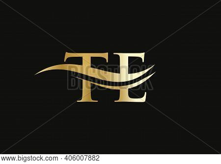 Te Letter Linked Logo For Business And Company Identity. Initial Letter Te Logo Vector Template.