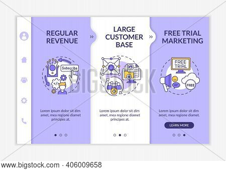 Software As Service Pluses For Developers Onboarding Vector Template. Large Customer Base. Constant