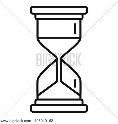 Life Skills Hourglass Icon. Outline Life Skills Hourglass Vector Icon For Web Design Isolated On Whi