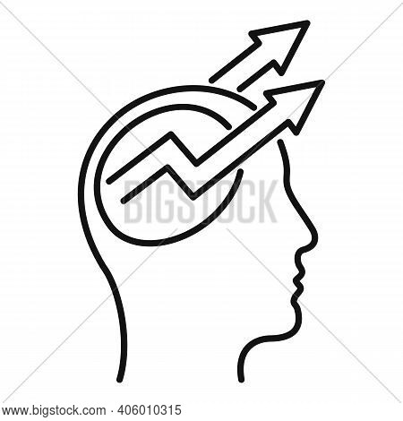 Control Mind Icon. Outline Control Mind Vector Icon For Web Design Isolated On White Background