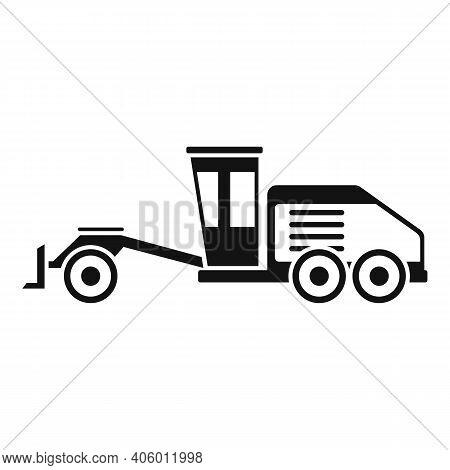 Grader Machine Hydraulic Icon. Simple Illustration Of Grader Machine Hydraulic Vector Icon For Web D