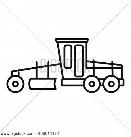 Grader Machine Heavy Icon. Outline Grader Machine Heavy Vector Icon For Web Design Isolated On White