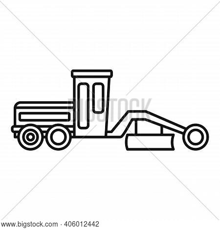 Grader Machine Machinery Icon. Outline Grader Machine Machinery Vector Icon For Web Design Isolated