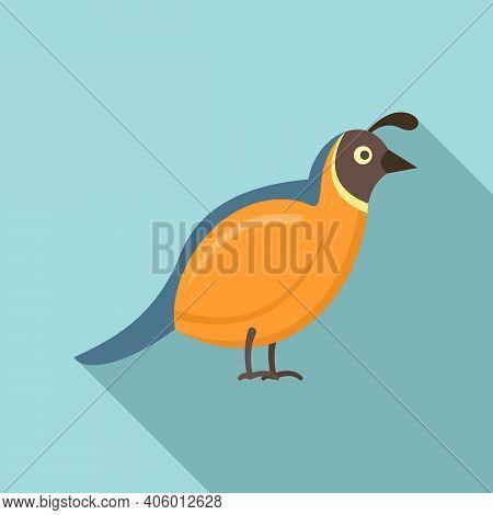 Quail Bird Icon. Flat Illustration Of Quail Bird Vector Icon For Web Design