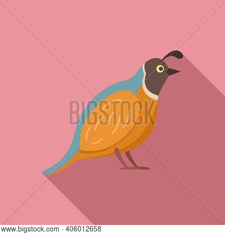Quail Chicken Icon. Flat Illustration Of Quail Chicken Vector Icon For Web Design