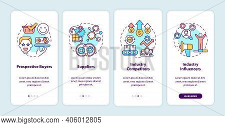 Co-creation Participants Onboarding Mobile App Page Screen With Concepts. Prospective Buyers, Suppli