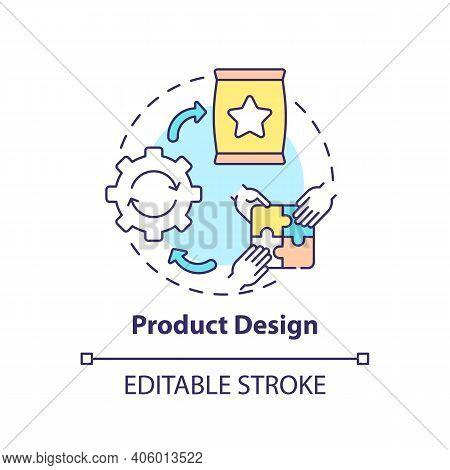 Product Design Concept Icon. Co-design Application Field Idea Thin Line Illustration. Imagining, Cre