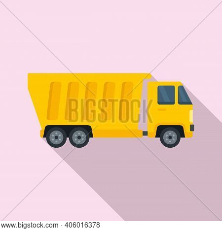 Tipper Heavy Icon. Flat Illustration Of Tipper Heavy Vector Icon For Web Design