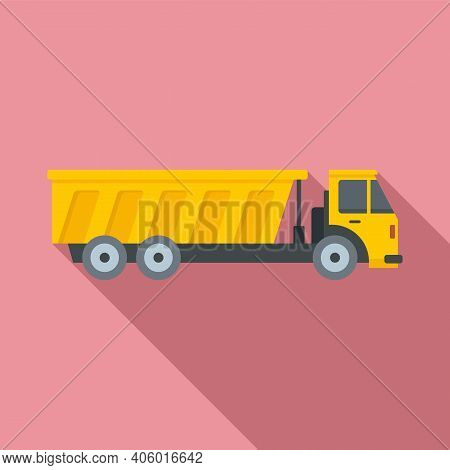Tipper Diesel Icon. Flat Illustration Of Tipper Diesel Vector Icon For Web Design
