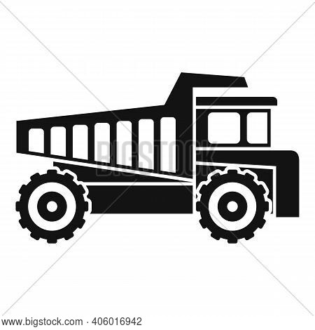 Tipper Lorry Icon. Simple Illustration Of Tipper Lorry Vector Icon For Web Design Isolated On White