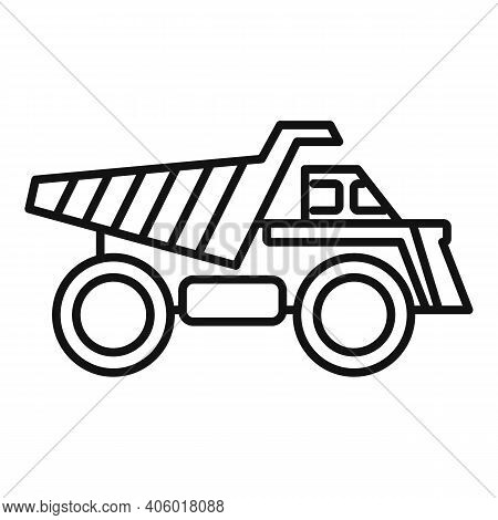 Tipper Heavy Icon. Outline Tipper Heavy Vector Icon For Web Design Isolated On White Background