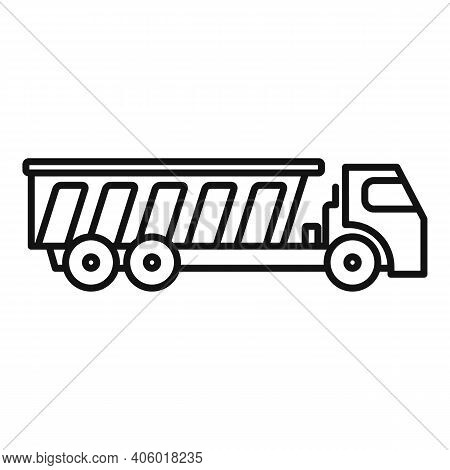 Tipper Diesel Icon. Outline Tipper Diesel Vector Icon For Web Design Isolated On White Background