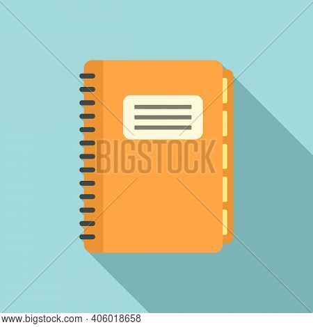 Notebook Foreign Language Icon. Flat Illustration Of Notebook Foreign Language Vector Icon For Web D