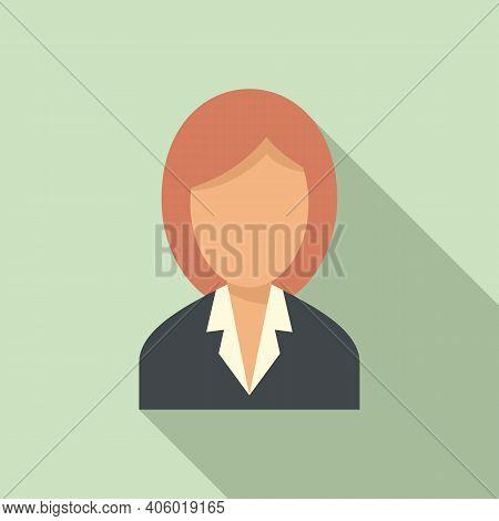 Foreign Language Woman Teacher Icon. Flat Illustration Of Foreign Language Woman Teacher Vector Icon