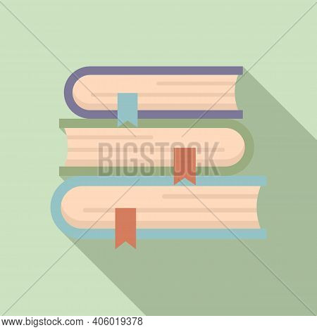 Foreign Language Study Books Icon. Flat Illustration Of Foreign Language Study Books Vector Icon For
