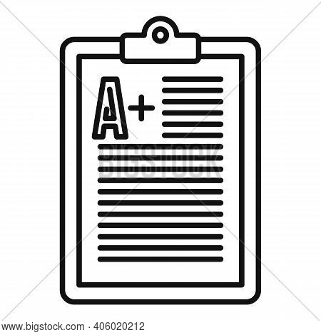 Foreign Language Positive Test Icon. Outline Foreign Language Positive Test Vector Icon For Web Desi