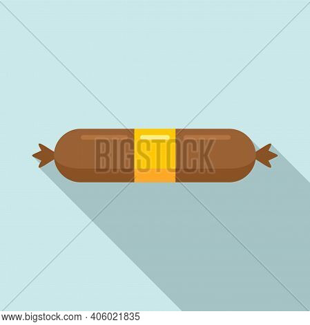 Meal Sausage Icon. Flat Illustration Of Meal Sausage Vector Icon For Web Design