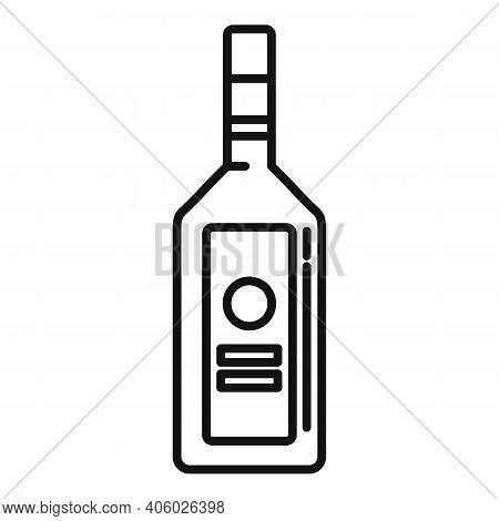 Drink Vodka Bottle Icon. Outline Drink Vodka Bottle Vector Icon For Web Design Isolated On White Bac