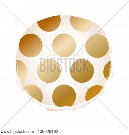 Dotted Macaroon Icon. Cartoon Of Dotted Macaroon Vector Icon For Web Design Isolated On White Backgr