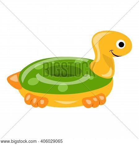 Turtle Inflatable Ring Icon. Cartoon Of Turtle Inflatable Ring Vector Icon For Web Design Isolated O