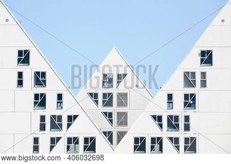 Aarhus, Denmark - September 13, 2014: View Of The Iceberg Building In Aarhus. The Iceberg Is A Uniqu