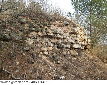 The Remains Of An Ancient Stone Wall Ruins Travel