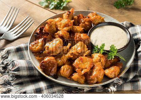 Homemade Vegetarian Vegan Buffalo Chicken Wings