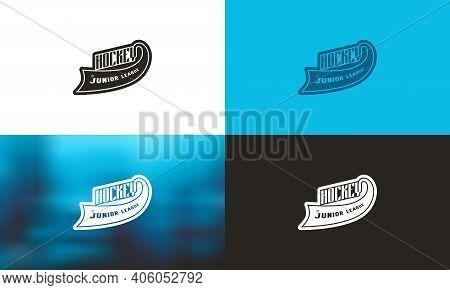 Emblem For Hockey Junior League. Color Variation