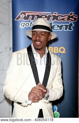 NEW YORK-SEP 2: TV host Nick Cannon attends the America's Got Talent Season 10 Live Barbeque and Viewing Party on September 2, 2015 in New York City.